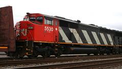 CN 5530, Harrison, Neenah, 29 Oct 15 (kkaf) Tags: cn harrison neenah sd60f a446