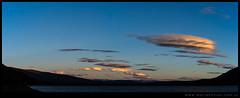 Nubes lenticulares sobre Cordillera del Viento