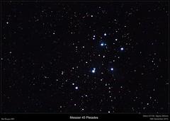 Messier 45 Pleiades (Myrialejean) Tags: messier45 messier m45 pleiades asterope sterope taygeta celaeno electra atlas pleione meropenebula nebula ngc1435 ic349 alcyone astronomy astrophotography nikond7100 nikon d7100 sigma sevensisters sisters seven taurus cluster astrometrydotnet:id=nova2218304 astrometrydotnet:status=solved
