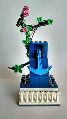 LEGO Shrine to the Ocean (wesleyobryan) Tags: ocean city sea statue memorial shrine lego vignette apocalego