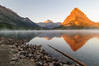 Mt Grinnell & Gould across Swiftcurrent Lake (CloudRipR) Tags: sunrise reflections mtgrinnell montana glaciernationalpark swiftcurrentlake d300 250v10f 500v20f 1000v40f greaterphotographers greatestphotographers greatphotographers superstarphotographer elitephotographers
