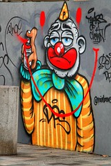Tears of a clown (Nick Fewings 4.5 Million Views) Tags: markii 7d eos canon ironic irony comedy smile happy sad can hat brighton fewings nick colorful color colourful colour artist grafitti street art urban paint spray clown tears