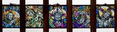 Falkirk stained glass St. Francis Xavier Felix McCulloch (RDW Glass) Tags: felix mcculloch stainedglass laminated window falkirk scotland conlin architect stations cross
