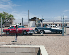(el zopilote) Tags: amboy california architecture street townscape smalltowns wheels cars packard clipper chrysler imperial clouds treespowerlines mojavedesert us66 canon eos 5dmarkii canonef24105mmf4lisusm fullframe wow