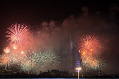 Happy New Year 2017 (Sreejesh Kalari Valappil) Tags: d7100 ishootraw sigma70300 iamnikon longexposure fireworks night newyear indubai inuae dubai uae mydubai myuae nikon burjalarab jumeirah jumeirahbeach дубай newyear2017 2017 january 500v20f sky lights
