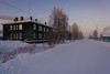 Main road (runovv) Tags: landscape sunset sun sunrise sky skyscape trees tree nature north russia cold ice snow polar village town native house