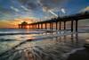Manhattan Beach Pier (Visual Sensory) Tags: beach coast goldenhour la manhattanbeach pacificocean pier sunset water coastal ocean seascape twilight