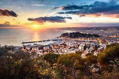 Nice Sunset (jpmiss) Tags: landscape sunset cotedazur canon frenchriviera sea paysage jpmiss sunflare ciel 6d sky nice 1635mm mer coucherdesoleil paca
