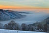 Sun over the foggy valley -Explore - /Nebel über dem Weschnitztal (Rita Eberle-Wessner) Tags: landschaft landscape sunrise sonnenaufgang nebel fog raureif hoarfrost winter frost trees berge mittelgebirge tal kälte weschnitztal odenwald kreidacher höhe