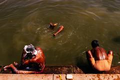 Bathing ghat (jamiemackiephotography) Tags: india travel varanasi bathing ghat street ganges diving river