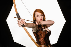 Big Softs (jonron239) Tags: bow arrow corset gameofthrones ygritte cosplay studio leatherbelt redhead redhair