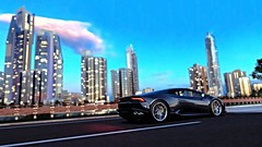 S u n s e t C i t y (AyZoR) Tags: lamborghini huracan sunset sun couchédesoleil voiture car v10 t10 turn10 xbox xboxone forza forzahorizon3 forzatography horizon fh3 motorsport route road gris grey night nightfall nuit screenshot australie australia worldcars