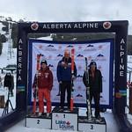 BC Team's Asher Jordan 2nd U18 at Lake Louise GS