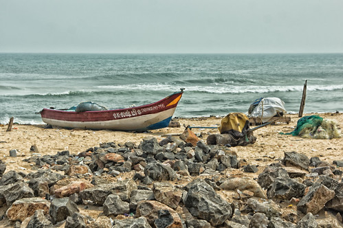 Fishing Boat On Marina Beach