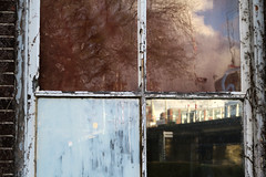 What We Don't See (YIP2) Tags: old past vintage glass window abandoned outside abstract minimal reflection decay