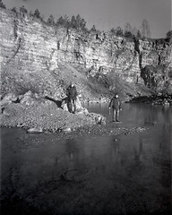 New Year's Day FAIL. Jaworzno, Poland. Rollei RPX 400 - never again in 4x5. (wojszyca) Tags: intrepid camera 4x5 largeformat fuji fujinon sw 90mm rollei rpx 400 fail hc110 1100 standdevelopment failure jaworzno quarry family winter newyearsday ice rock outdoors gossen lunaprosbc epson v800