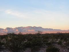 Allamoore, Texas (David Hoffman '41) Tags: morning sunrise mountains desert allamore texas landscape view vista scene light rose pink scrub ghosttown nearlydeserted scenery sunlight dawn hudspethcounty i10 interstate10