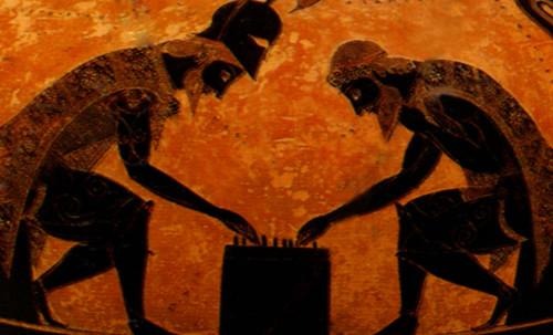 "Petteia - Ludus Latrunculorum  / Iconografía de las civilizaciones helenolatinas • <a style=""font-size:0.8em;"" href=""http://www.flickr.com/photos/30735181@N00/32143107390/"" target=""_blank"">View on Flickr</a>"