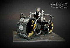 Wolfmüller IV - Tesla series steamtricycle (adde51) Tags: adde51 lego steampunk moc tricycle vehicle motorcycle cb wheel npu foitsop