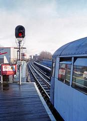 Wait... (DH73.) Tags: london transport lrt lul northern line underground mill hill east nq7 1959 tube stock honeywell pentax h3v 55mm super takumar lens kodachrome 64
