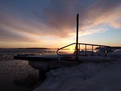 Framed (Jarno Nurminen) Tags: finland helsinki shore seascape water sea ice snow lauttasaari jetty sunrise