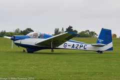 G-AZPC - 1972 build Slingsby S.61C Falke, arriving at Sywell during the 2016 LAA Rally (egcc) Tags: 1767 2016laarally egbk falke gazpc heslop kimberley laarally lightroom motorglider northampton orm slingsby sywell t61 t61c