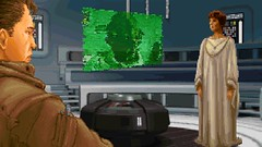 After the Massacre (BarricadeCaptures) Tags: star wars dark forces mission ii talay tak base after massacre cutscene kyle katarn mon mothma nebulon b frigate meeting room transmission hologram game screenshot screencap