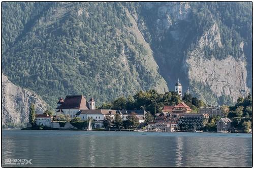 Blick auf Traunkirchen - Kloster