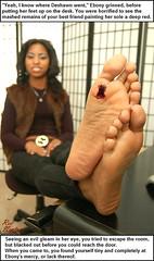 Wicked Wants (Red Neptune) Tags: giantess gts shrunkenman sm feet crush stomp black ebony soles