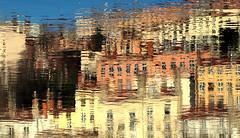 Colored dream (Croix-roussien) Tags: fabuleuse lyon croixrousse reflet immeuble building urban upsidedown water saône river fleuve cheminée ngc cof1 cof001 couleurs france eau colors graphics