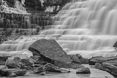Albion Falls #3 (B&W) (Paul B0udreau) Tags: canada ontario fotgafadernd neutraldensity niagara paulboudreauphotography nikon nikond5100 longexposure daytime rocks pool photoshop hamilton bw nikkor70300mm
