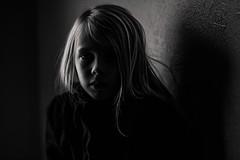 Little shadow. (aamith) Tags: portrait bw blackandwhite bnw monochrome carlzeiss zeiss 135mm girl kids naturallight