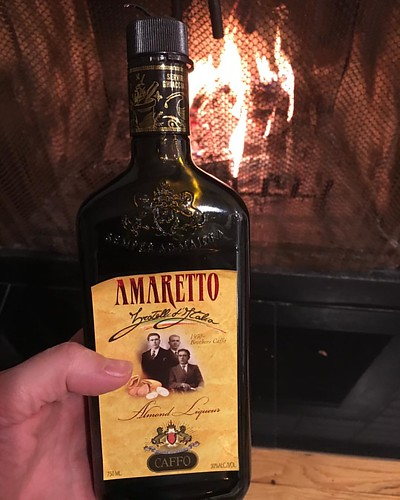 When you're rooting around the cupboard over the microwave, and stumble upon a forgotten bottle of amaretto, and suddenly you're lighting a fire like 🔥