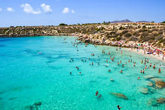 Calette siciliane (Ivan S. Almeida) Tags: sea seaside seascape shore blue water green cristalclear hill serene cloudless sky italy sicily