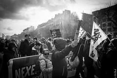 Light your street (Hermann.Click) Tags: revolt demonstration manifestation monochrome rue street paris personnes luttes social workingclass grève lutte manif