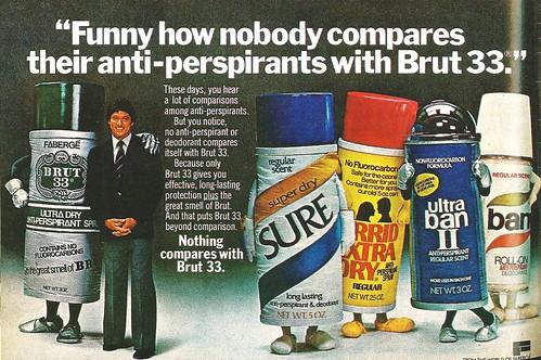 Brut 33 antiperspirant ad, 1978