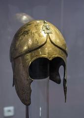 Bronze helmet from the Tomb of Seuthes III, 1 (diffendale) Tags: bronze king elmo helmet royal armor burial re bling defensive regal wealth hellenistic bronzo kazanlak gravegoods thrace thracian corredo golyamakosmatka траки тракийски etàellenistica 3rdcbce 290sbce 270sbce 280sbce seuthesiii odrysian early3rdcbce голямакосматка севтiii οδρύσαι museumofhistoryiskra историческимузейискра 1stquarter3rdcbce