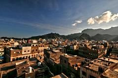 VIEW FROM MY HOTEL WINDOW - ADEN , Yemen (..friend_faraway..) Tags: windows building hotel cityscape gulf view middleeast arab yemen aden gulfarab
