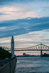 Montreal Quay (CD_MT) Tags: bridge canada river nikon quebec montreal quay clocktower nikkor riverview d300 18200mm stlaurenceriver