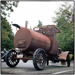 Model T Tank Truck BBQ (NoJuan) Tags: ford tlr film rolleiflex mediumformat 120film trucks oldtruck carshow fordtruck twinlens tessar 120rollfilm ccab kodakportra160 rolleiflex35a