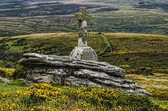 Memorial (mark hawker2013) Tags: sky clouds rocks heather granite tor moor dartmoor cairn gorse