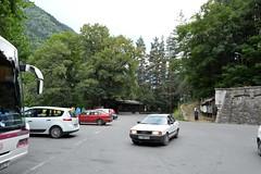 2015_Rila_4382 (emzepe) Tags: car volvo parking scenic lot voiture renault monastery rila s40 augusztus megane bulgarie wagen piros 2015 bulgarien nyr aut fehr     bulgria cges parkol kolostor egyter autnk rilai