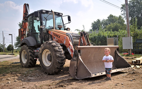Visiting a backhoe