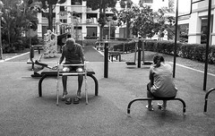 * (Mambo Ferido) Tags: leica old people blackandwhite bw 35mm kodak candid voigtlander trix streetphotography ishootfilm 1600 domestic m4 nokton feels shadesofblue pushedfilm believeinfilm
