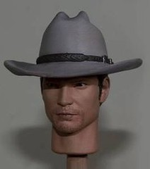 US MARSHAL (HATTED) custom head (Warriors Gate Productions Sculpting) Tags: justice cowboy gate doll action figure western horror warriors sciencefiction timothy custom boyd leonard productions deadwood django walton sideshow hitman givens elmore commissions justified hottoys goggins raylan olyphant onesixth digitalartist hatefulleight seandabbs