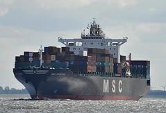 MSC Dymphna (Bernhard Fuchs) Tags: water boat nikon ship ships cargoships vessel cargo elbe schiffe msc cuxhaven containerschiff frachtschiff fracht containerschiffe frachtschiffe
