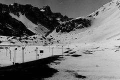(bisonte invencible) Tags: chile travel blackandwhite mountain blancoynegro bn 35mmfilm andes bnw biancoenero cordillera losandes blancetnoir