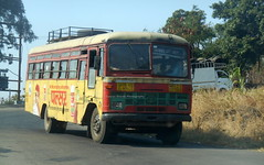 MSRTC Ordinary Heading Towards Bhor (gouravshinde94) Tags: bus bhor saswad msrtc