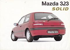 Mazda 323 Solid brochure 12-1995 (sjoerd.wijsman) Tags: auto cars car voiture vehicle 1995 mazda brochure fahrzeug 323 folleto prospekt carbrochure 121995 opuscolo brochura broschyr autobrochure