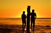 A Romantic Evening... (Sougata2013) Tags: sunset sea love silhouette evening nikon ruins couple jetty australia adelaide romantic lover southaustralia oldjetty seabeach nikond3200 portwillunga gulfstvincent jettyruins aldingabay